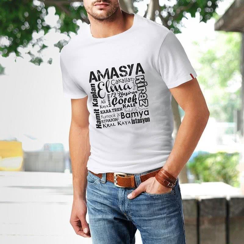 Amasyalıya Özel Baskılı Tişört