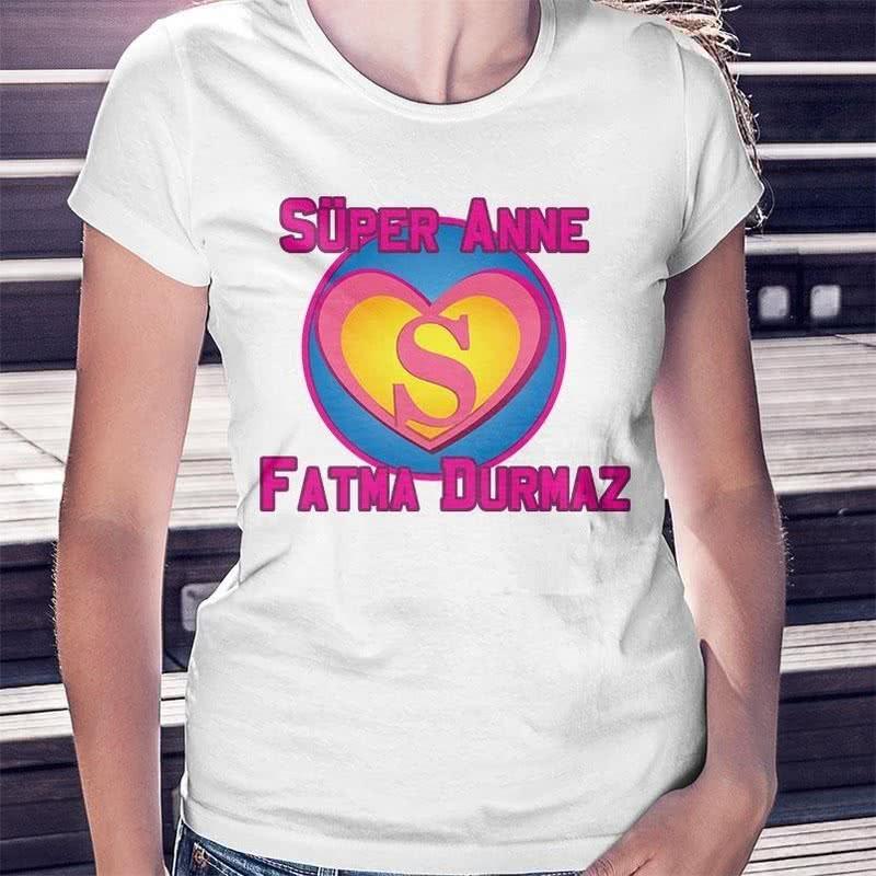 Anneler Günü Hediyesi Süper Anne Tişörtü