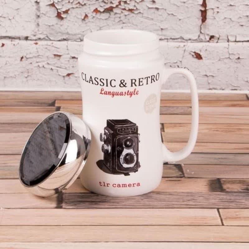 Antika Fotoğraf Makinesi Baskılı Kupa