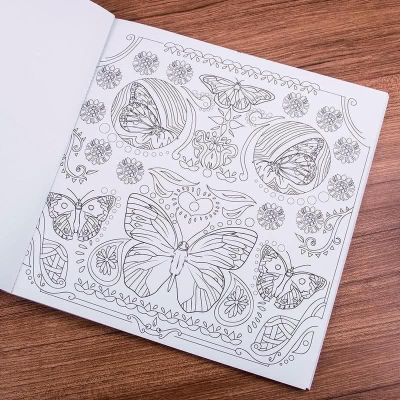 Art Nouveau Hayvanlar Alemi Buyukler Icin Boyama Kitabi Hediye