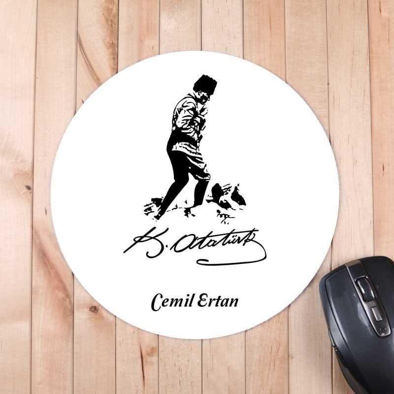 Atatürk Silüeti ve İmzalı Mousepad
