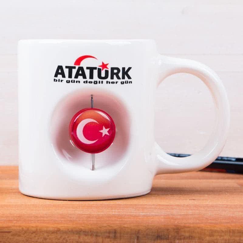 Atatürk Yazılı 3D Türk Bayraklı Kupa