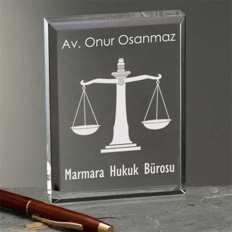 Avukata Hediye Akrilik Plaket