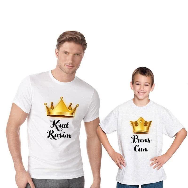 Baba ve Çocuğa Özel Çift Tişörtü
