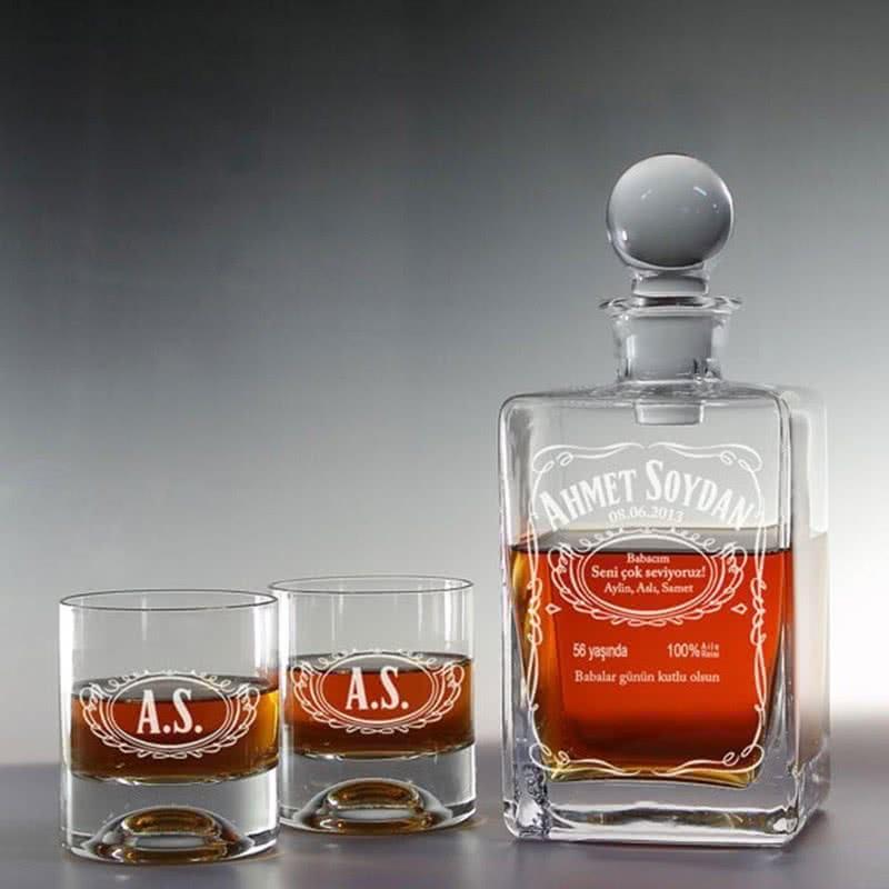 Babalar Günü Hediyesi Jack Armalı Viski Seti