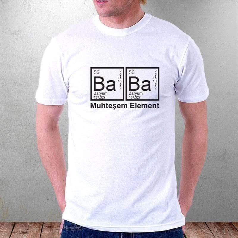 Babaya Hediye Element Baskılı Tişört