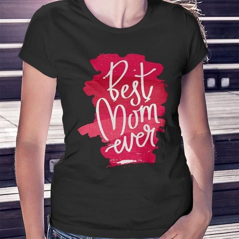 En İyi Anne Yazılı Anneler Günü Hediye Tişört