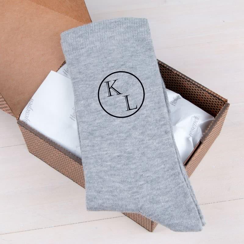 Erkeğe Hediye İsme Özel 6lı Çorap Seti