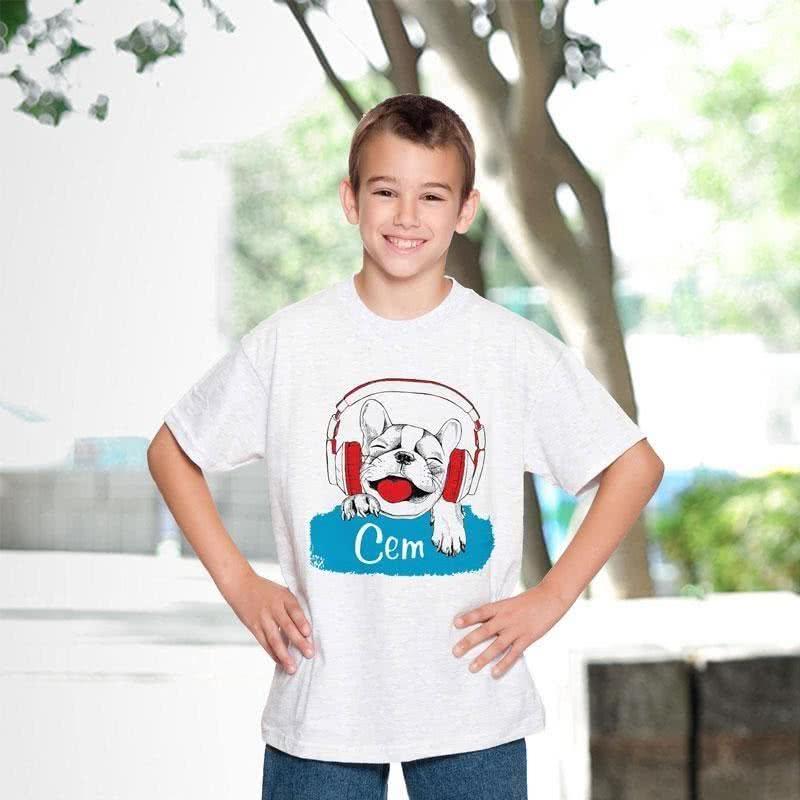 Erkek Çocuklarına Özel İsim Yazılı Tişört