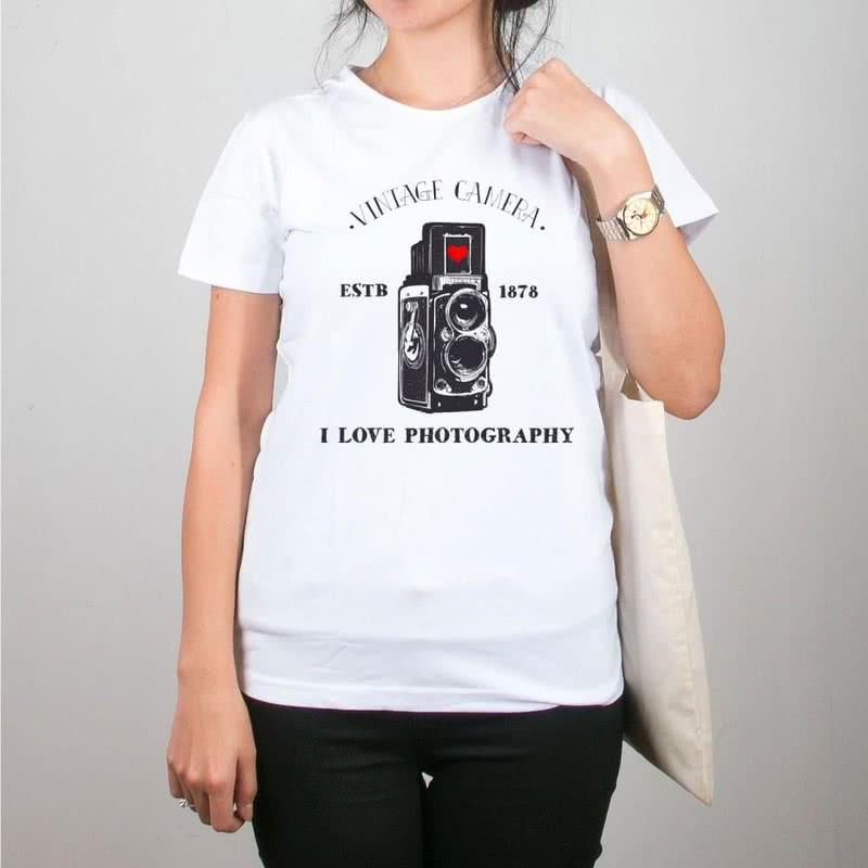 Fotoğraf Tutkunlarına Özel Hediye Bez Çanta Tişört