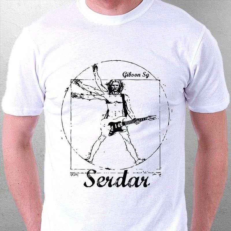 Gitar Çalan Müzik Tutkunları İçin Hediye Tişört