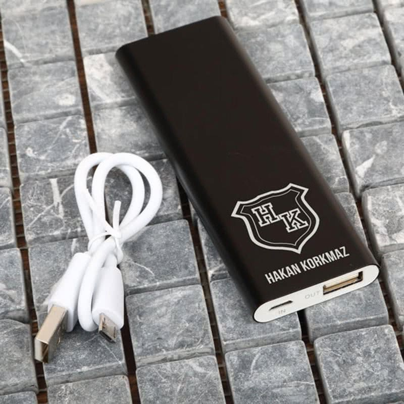 İsimli Powerbank - Harici Şarj Cihazı 3000 mAh