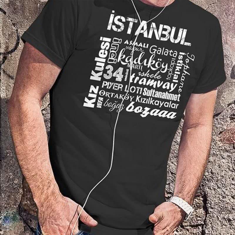İstanbul Klasikleri Baskılı Tişört