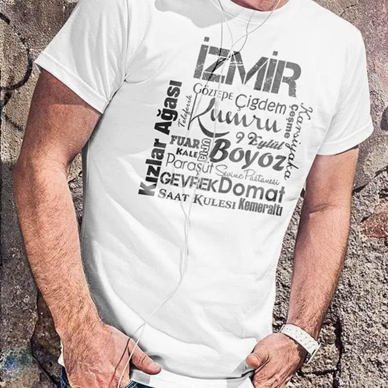 İzmirlilere Özel Baskılı Tişört