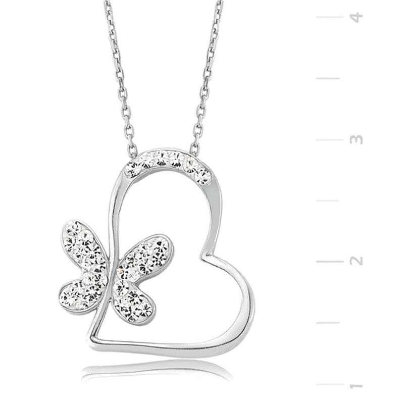 Kalbimin Kelebeği Gümüş Kolye