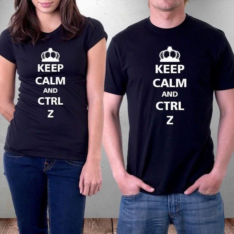 Keep Calm Yazılı Kişiye Özel Tişört