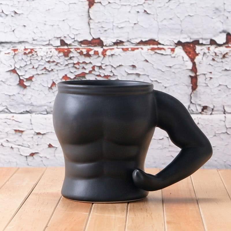 Kırmızı Kaslı Vücut Porselen Kupa