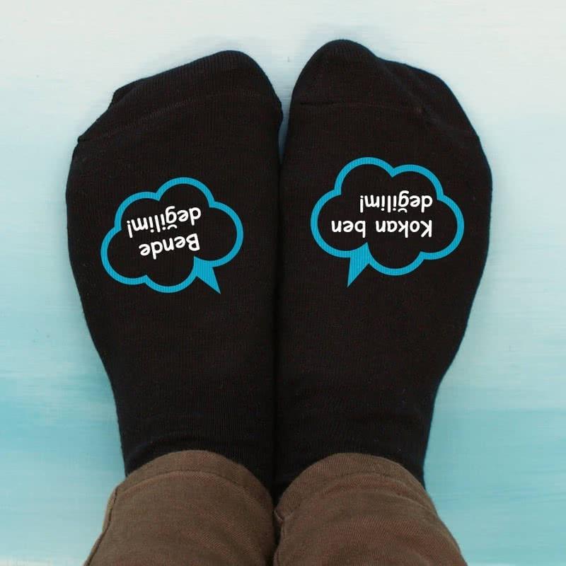 Kişiye Özel 6 Çift Konuşan Çorap Seti