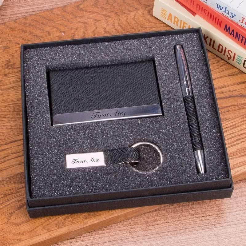 Kişiye Özel Kartvizitlik Anahtarlık Kalem Seti – BP417