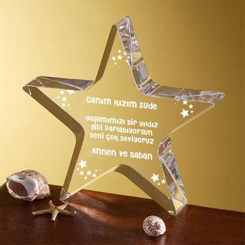Kızınıza Doğum Günü Hediyesi Yıldız Ödülü