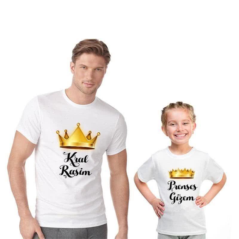Kral Baba Prenses Kızı İkili Tişörtü