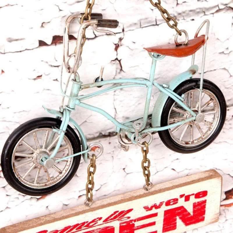 Küçük Mavi Bisiklet Dekoratif Kapı Yazısı