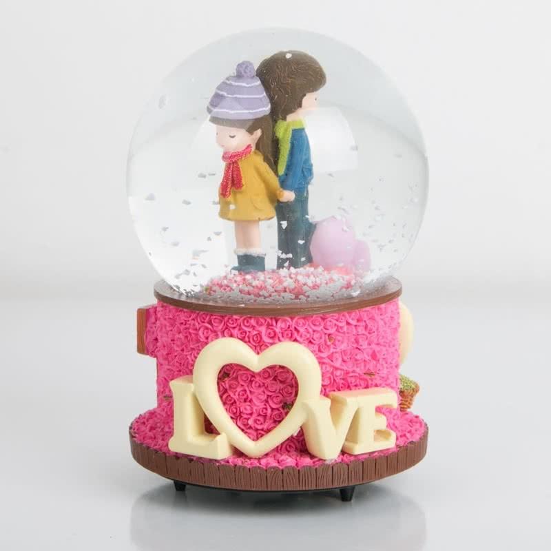 Love Yazılı Müzikli kar Küresi