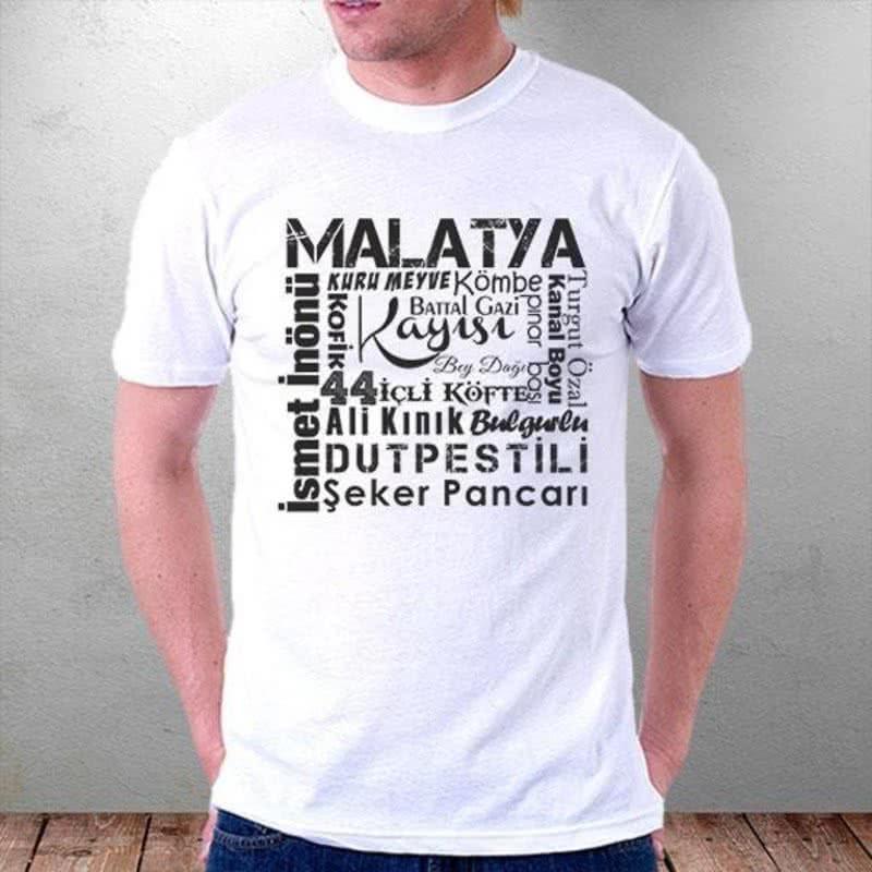 Malatya Şehir Özellikleri Tasarımlı Tişört