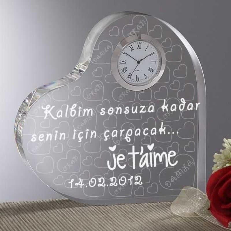 Mesajlı Kalp Saat Jetaime