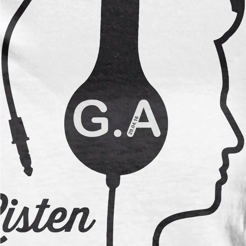 Müzik Dinlemeyi Sevenler İçin Kişiye Özel Tişört