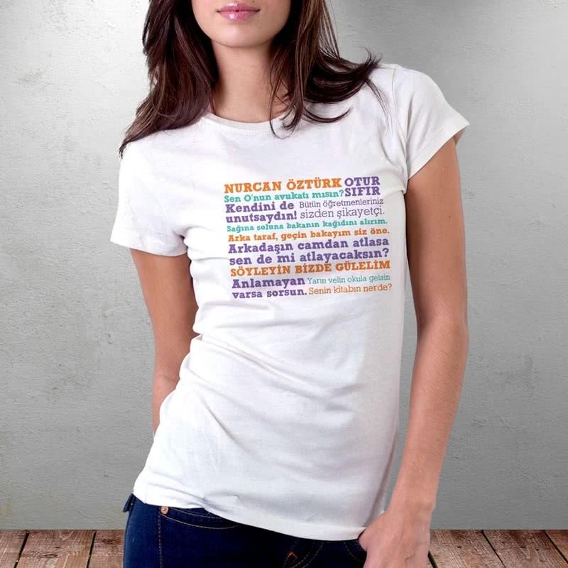 Öğretmenler Günü Hediyesi Öğretmen Sözlü İsimli Tişört