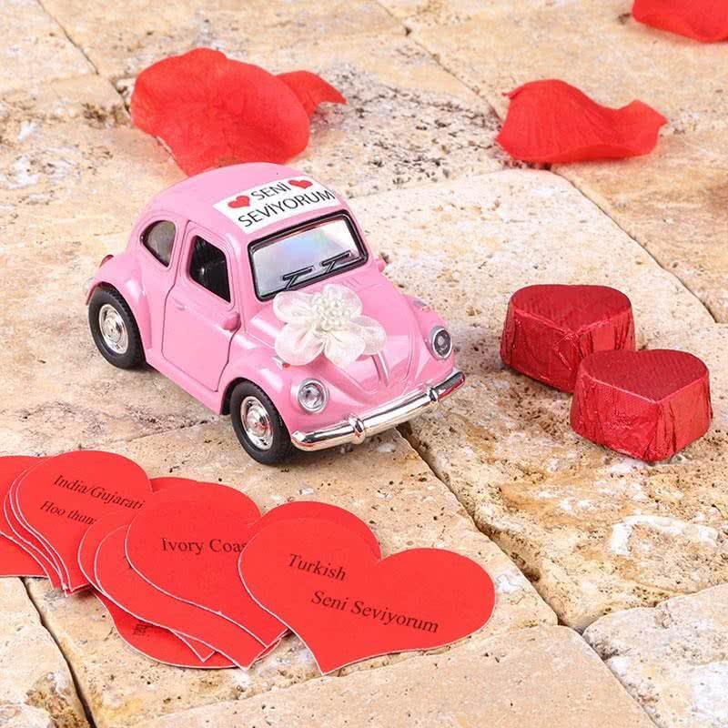 Pembe Renkli Aşk Arabası Vosvos