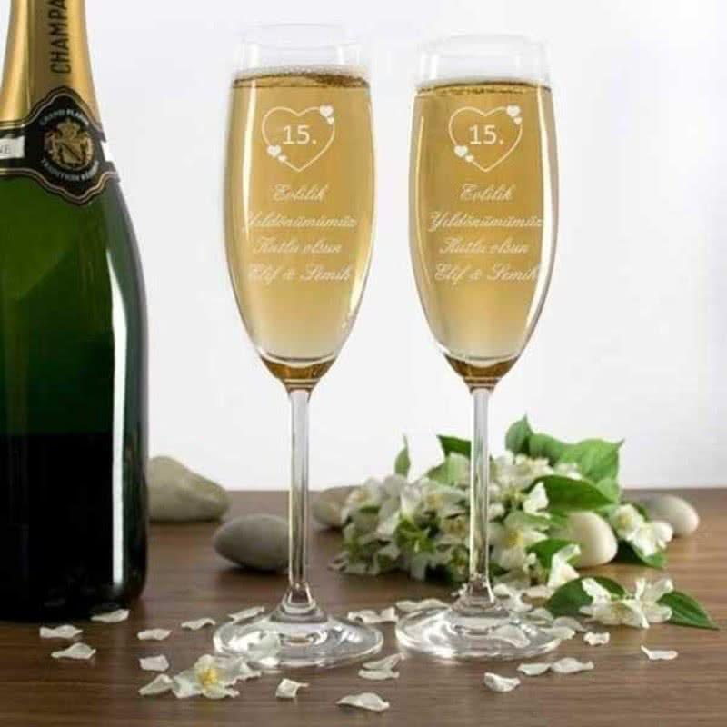 Şampanya Kadeh Seti Yıldönümü Anısı
