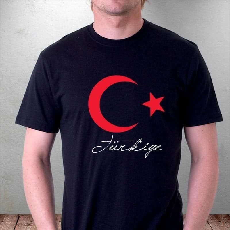 Şanlı Ay Yıldız Tasarım Baskılı Tişört