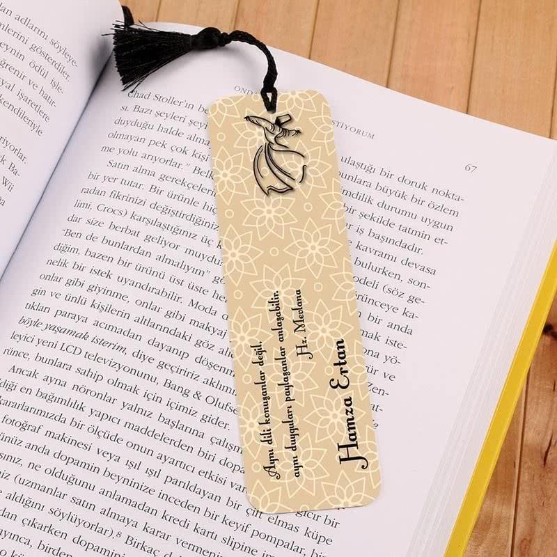 Semazen Figürlü Kişiye Özel Kitap Ayracı