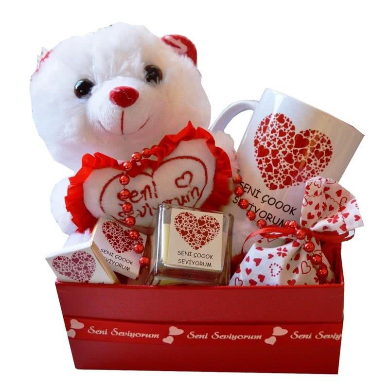 Seni Çoook Seviyorum Romantik Hediye Sepeti