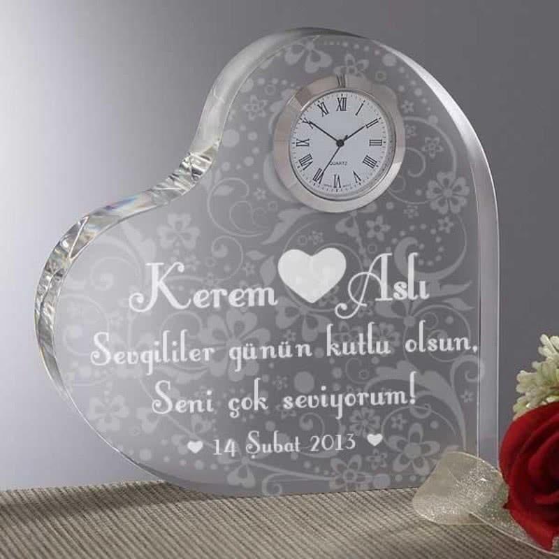 Sevgililer Günü Özel Kalp Saat