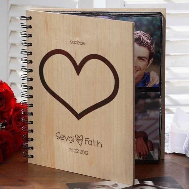 Sevgiliye Hediye Albüm Sadece Kalp
