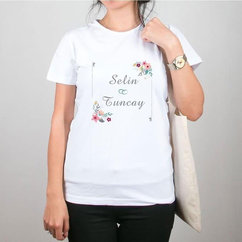 Sevgiliye Hediye Bez Çanta Tişört Kombini