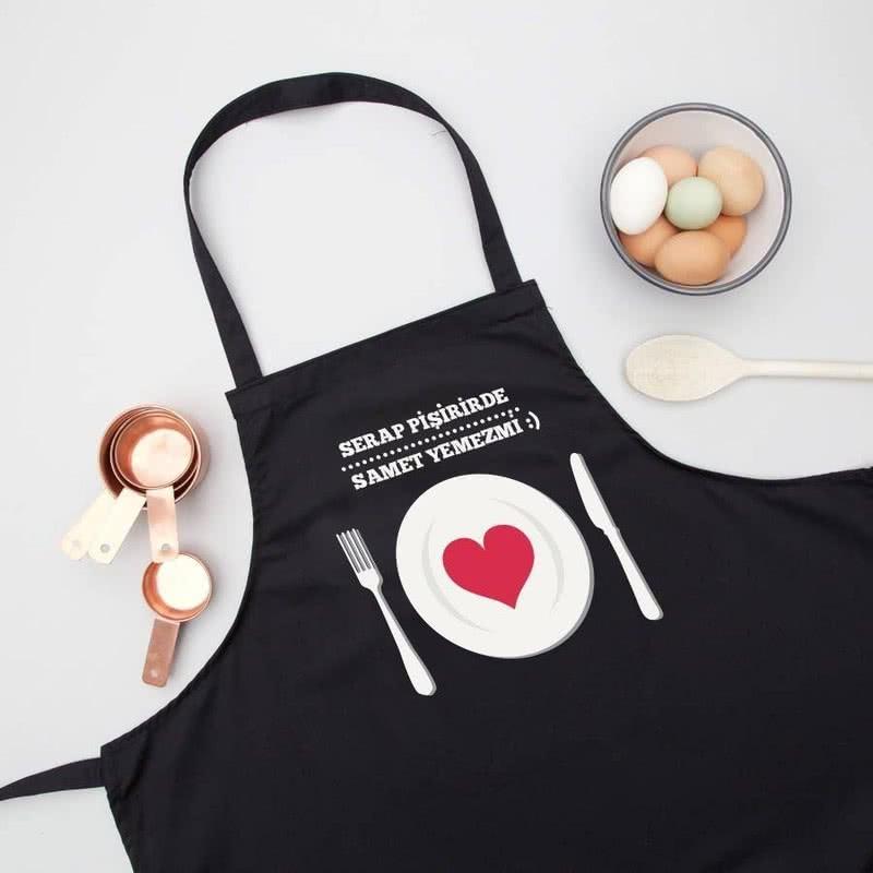 Sevgiliye Hediye Kişiye Özel Mutfak Önlüğü