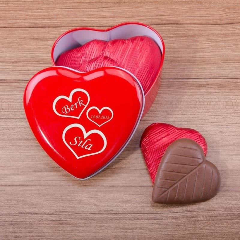 Sevgiliye Özel Tarihli Çikolata Kutusu