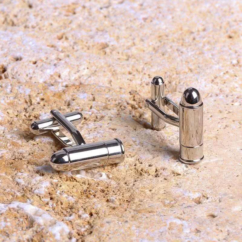 Silah Mermisi Görünümlü Kol Düğmesi