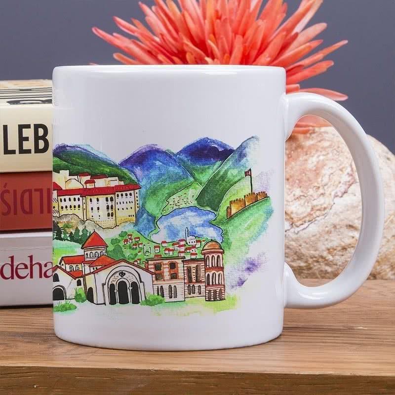Trabzon Şehri Tasarımlı Hediyelik Kupa Bardak