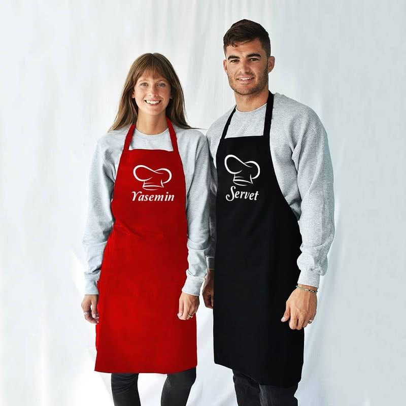 Usta Şef İsim Yazılı Mutfak Önlüğü