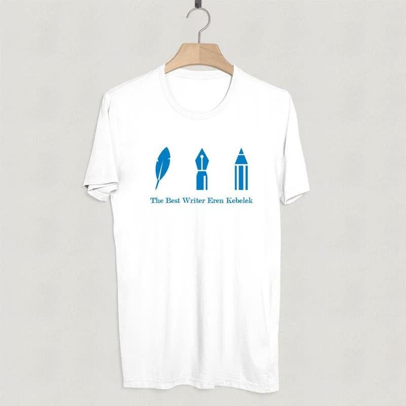 Yazı Yazmayı Sevenlere İcon tasarımlı Tişört