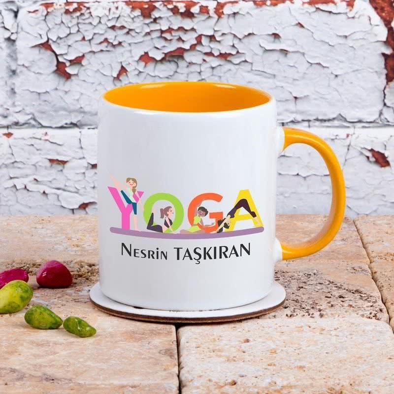 Yoga Yapanlara Özel Tasarımlı Kahve Kupası