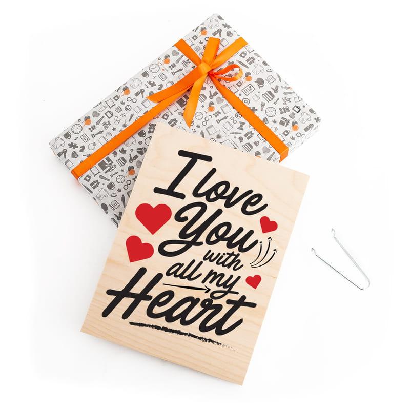 14 Şubat Sevgililer Günü Hediyesi Ahşap Plaka