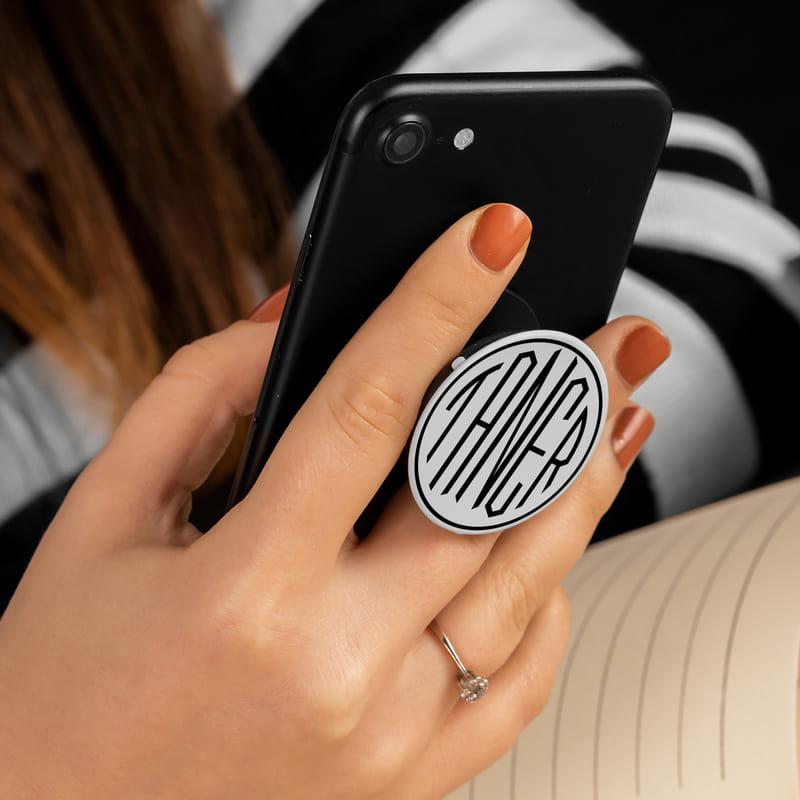 İsme Özel Monogram Pop Socket Yeni Nesil Telefon Tutucu