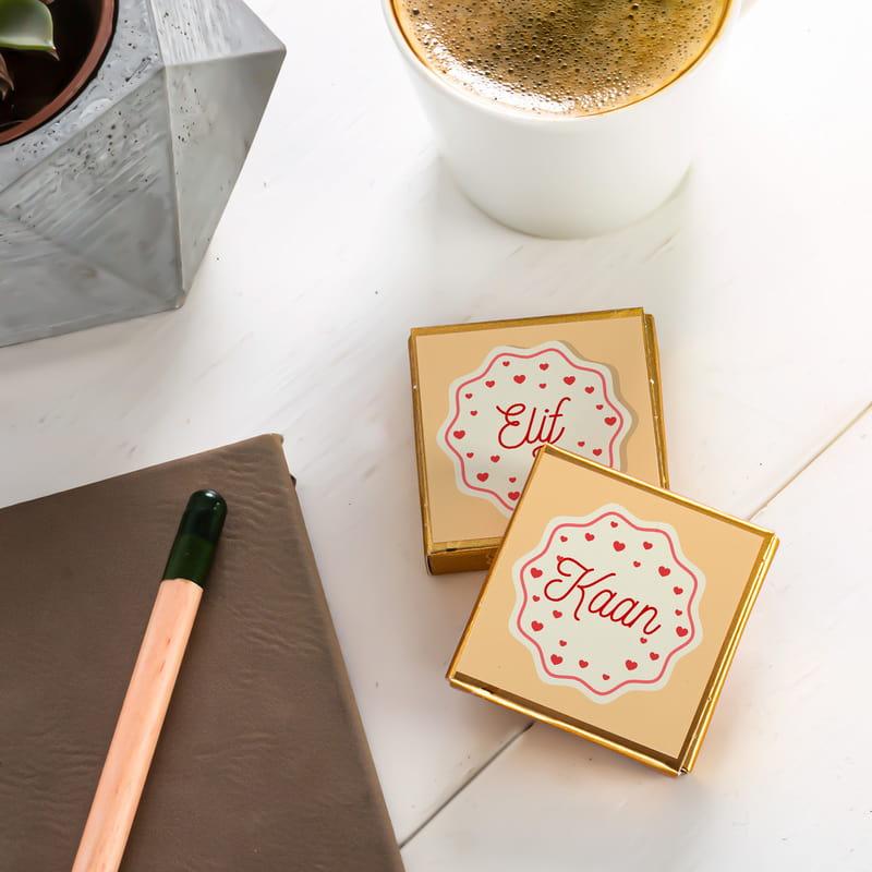 İsme Özel Sevgililer Günü Çikolata Kutusu