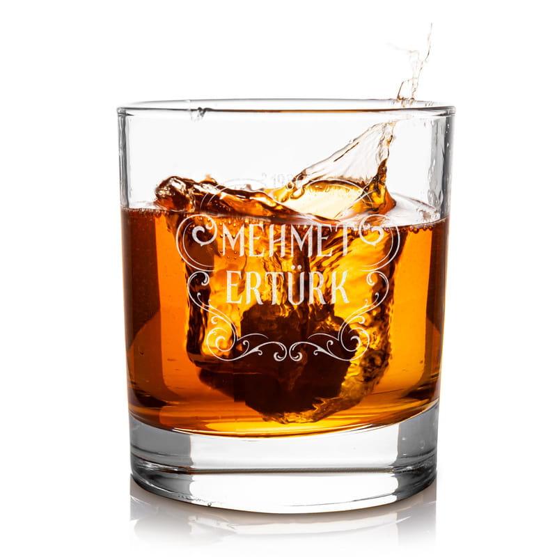 Retro Tasarımlı Kişiye Özel Premium Ahşap Kutulu Viski Kadeh Seti